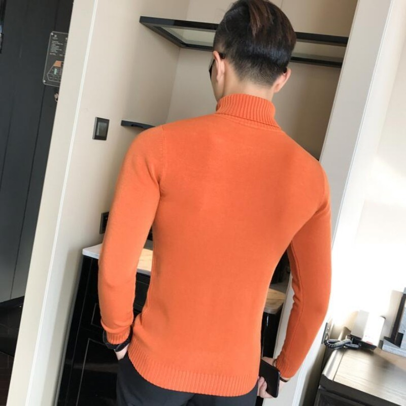 13 Colors Mens Pullover Sweater Long Sleeve Turtleneck Spring Autumn Knit Tops Male Slim Fit Bodycon Knitwear Sueter Hombre 3XL