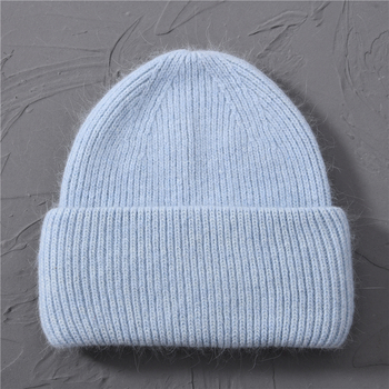 Casual Women's Hats Cashmere Wool Knitted Beanies Autumn Winter Brand New Three Fold Thick 2020 Knitted Girls Skullies Beanies 15