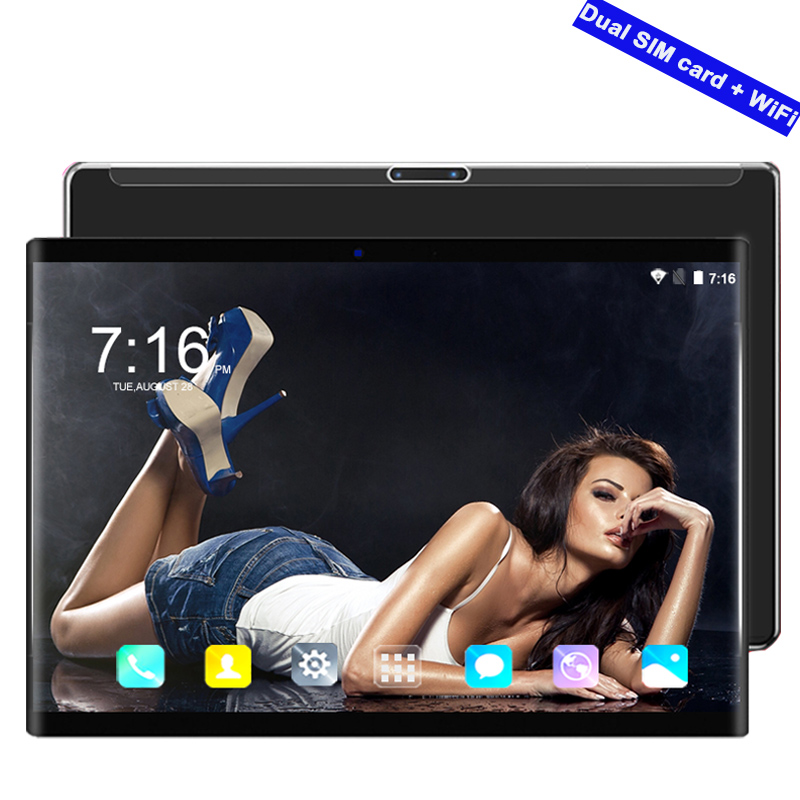 2019 New 3G/4G Smart Tablet Pc 10.1 Inch Google Play Android 8.0 Octa Core Ram 6GB ROM 64GB WiFi GPS 10' Tablets Steel Screen 10