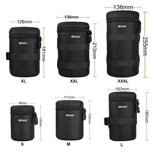 Image 2 - 6 גודל עמיד למים מצלמה עדשה עבה מרופד תיק Case פאוץ מגן מותניים חגורה מחזיק עבור Canon ניקון Tamron Sigma Sony עדשה