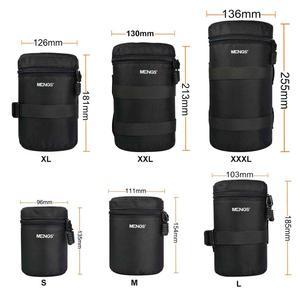 Image 2 - 6 크기 방수 카메라 렌즈 두꺼운 패딩 가방 케이스 파우치 수호자 허리 벨트 홀더 캐논 니콘 Tamron 시그마 소니 렌즈