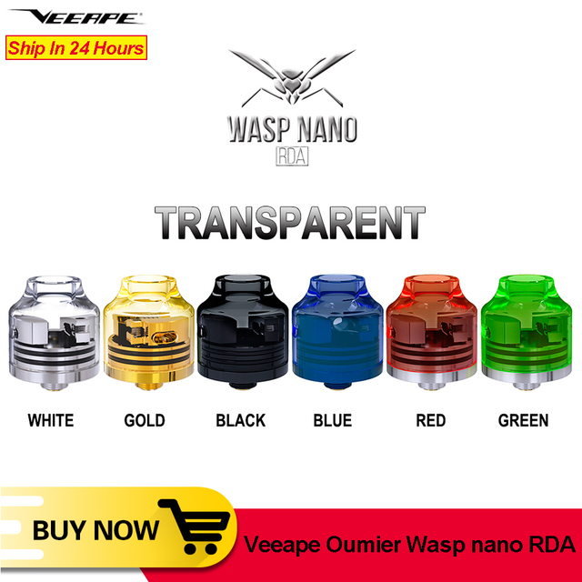 Veeape OUMIER WASP NANO RDA vape tank Big Deck Rebuildable Tank 22mm Adjustable Airflow Bottom Airflow NANO RDA Resin VS Wotofo