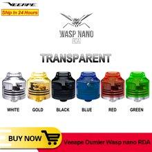 Veeape OUMIER WASP NANO RDA vape tank Big Deck serbatoio ricostruibile 22mm flusso daria regolabile flusso daria inferiore NANO RDA resina VS Wotofo