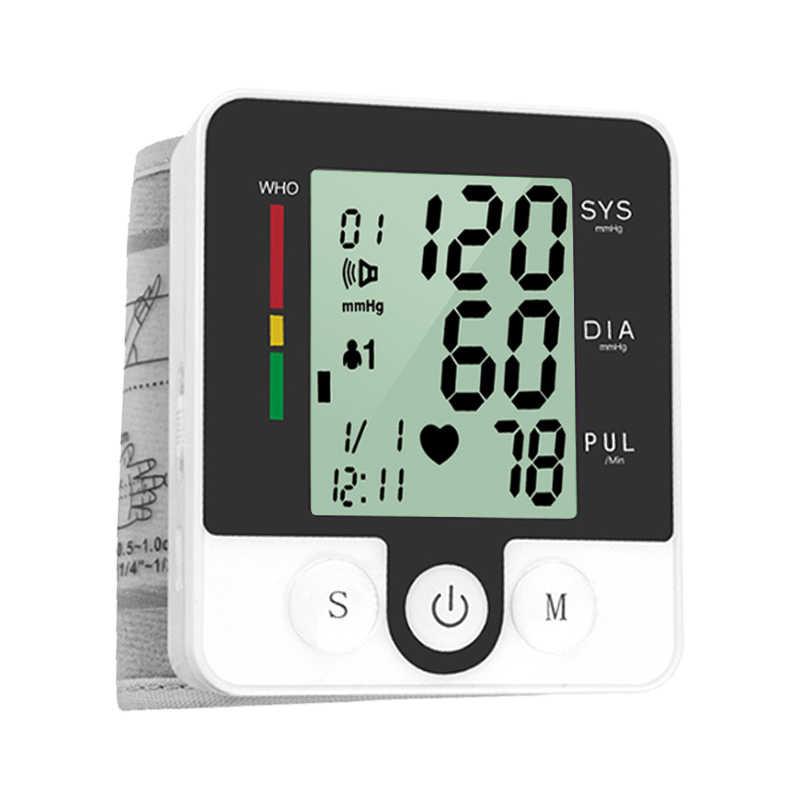 อัตโนมัติรัสเซียเครื่องวัดความดันโลหิตแบบดิจิตอลเครื่องวัดความดันโลหิตข้อมือ Sphygmomanometer