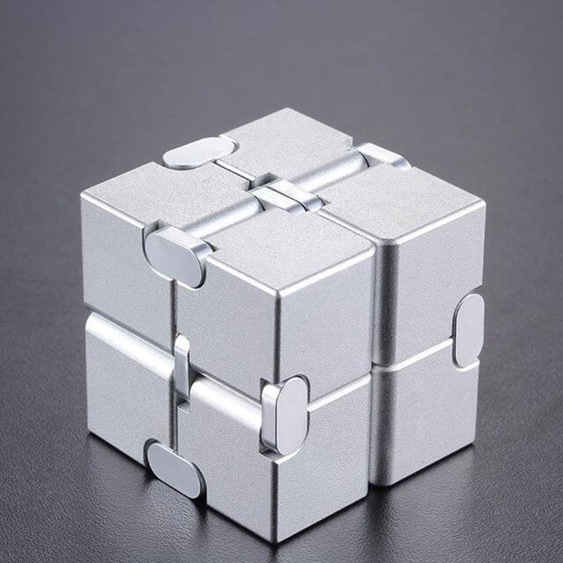 Купить с кэшбэком Magical Infinite stress relief Cube infinity cube aluminium Cube Toys Premium Metal Deformation Stress Reliever for EDC Anxiety