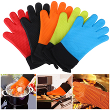 Glove Kitchen Cooking Temperature-Resistant BBQ Silicone Oven