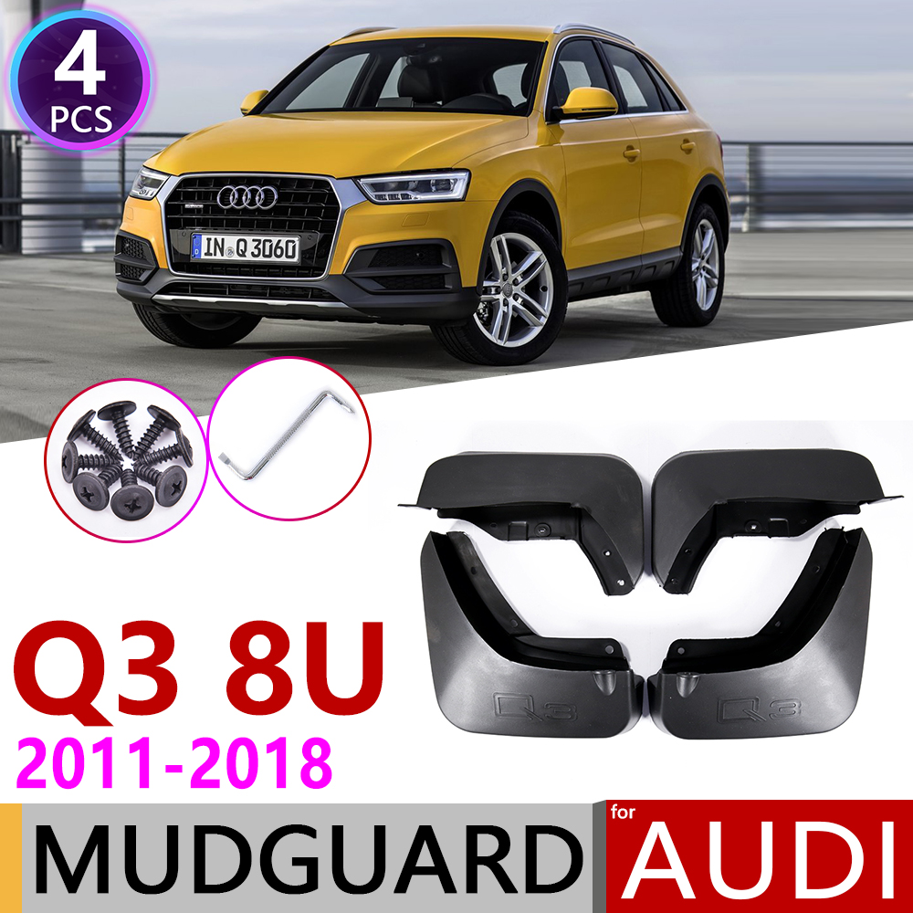 Car Mudflaps For Audi Q3 8U 2011~2018 Fender Mud Guard Flap Splash Flaps Mudguards Accessories 2012 2013 2014 2015 2016 2017
