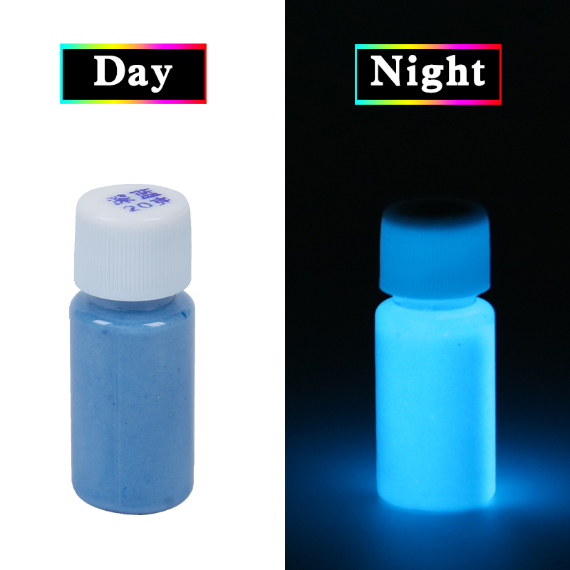 Luminous Paint Glow in the Dark Fluorescent Paint 20g Dark Blue for Party Nail Decoration Art Supplies Phosphor Acrylic Paint