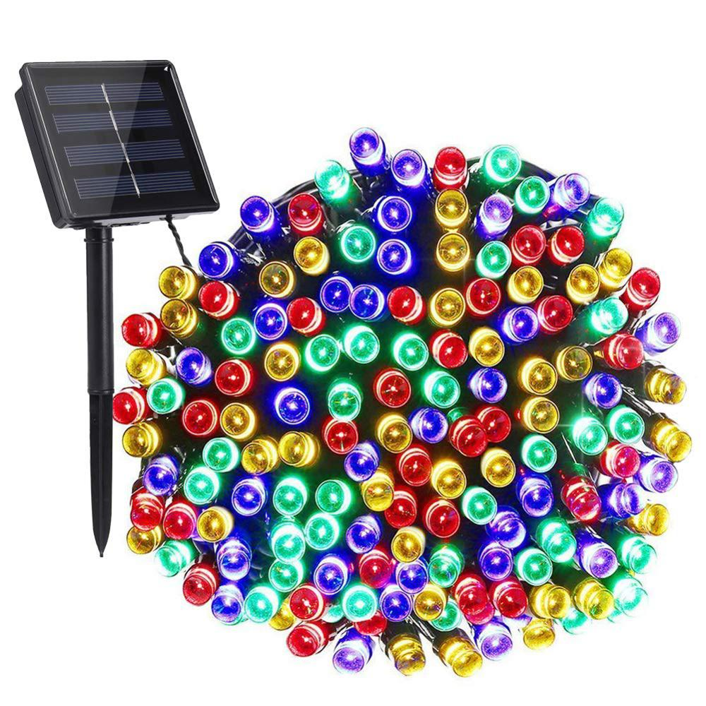 200LED 22m Solar Power Colorful Fairy String Light Pattern 8 Personality Christmas Courtyard Outdoor Yard Decorative Lamp New