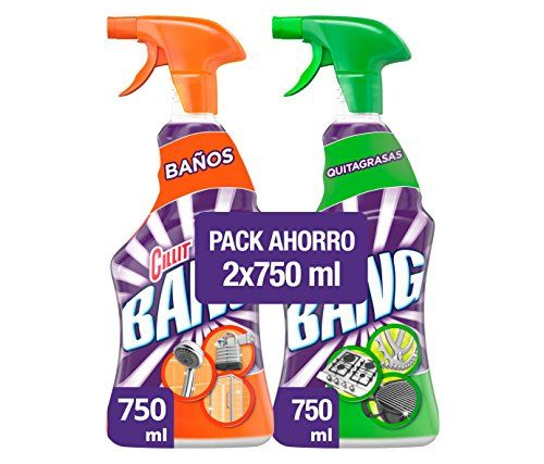 Cillit Bang Powerful Grease And Anti-Limescale Cleaner Spray–Pack Of 2x 750ml