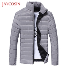 JAYCOSIN Boys Warm Stand Collar Slim Zip Coat Men Outwear Winter Jacket Stylish And Fashion High Quality Materials Daily Wearing cheap REGULAR Pants Casual zipper Full NONE STANDARD Broadcloth COTTON Feather 300g Solid 370g men coats wool with hood men coats autumn winter 2019