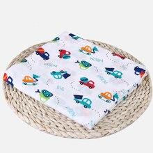 2020 Baby Comforter Quilt Newborn Soft Swaddle Blanket Muslin Cotton Cloth Bath-Towel Children Cartoon Gauze Wrap Sleepsack