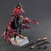 цены 27cm Kai PA Play Arts Dirge of Cerberus Final-Fantasy 7 Vincent Felhunter Collectable Action Figure Model toys Action dolls