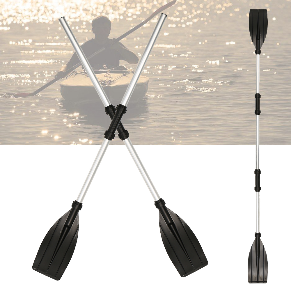 New 2 Pcs Aluminum Alloy Detachable Float Afloat Oars Fitting Boat Rafting Paddle Canoe Oar Boating Accessories Drop Shipping