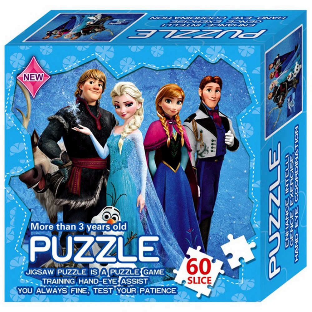 Paper Jigsaw Puzzles Hero Princess Elsa Educational Puzzle For Children Kid Toy Brain Training Game Toys For Baby Christmas Gift