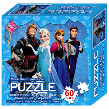 Casse-tête pour enfant de la reine des neiges - 60 morceaux