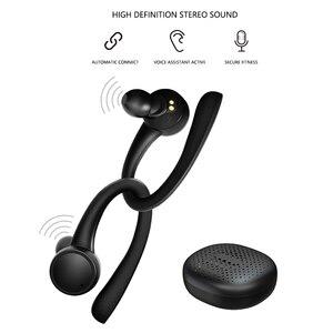 Image 5 - TWS 5,0 Bluetooth наушники для iphone Xiaomi Беспроводные наушники с микрофоном спортивные наушники с крючком для бега шумоподавление гарнитуры