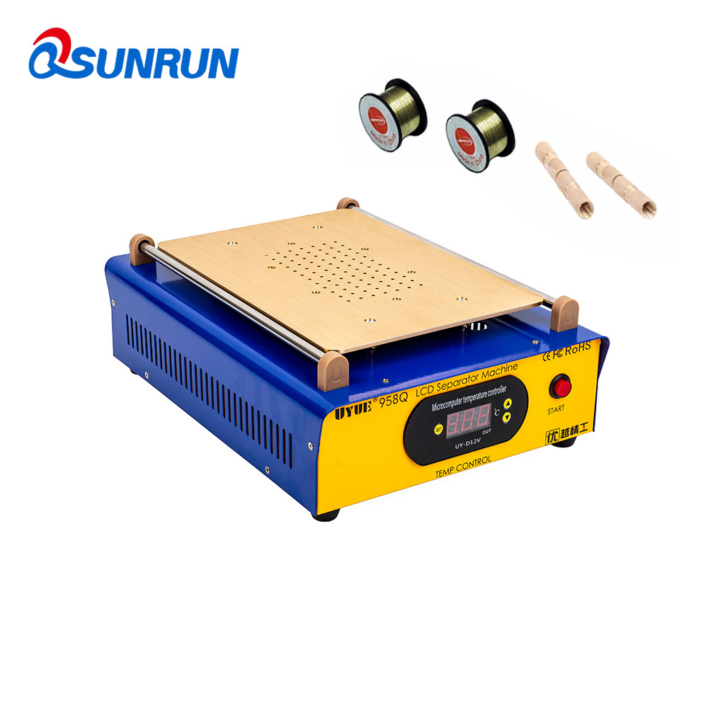 958Q 2 In 1 Multifunction LCD Repair Machine Set Built-in Vacuum Pump Touch Screen LCD Separator For IPhone Samsung IPad