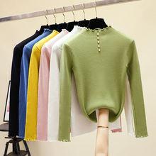 Повседневный осенне зимний базовый свитер hlbcbg пуловеры Женский