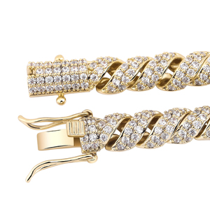 Image 4 - TOPGRILLZ  New Arrival 10mm Gold Silver Color Plated Iced Out Cubic Zircon Cuban Links Mens Necklace