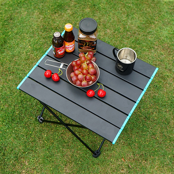 Przenośny składany stół kempingowy składany stół piknikowy ze stopu aluminium stół na zewnątrz stół do grillowania stół turystyczny tanie i dobre opinie CN (pochodzenie) Metal Z aluminium Nowoczesna i minimalistyczna Montaż Rectangle Stół ogrodowy meble zewnętrzne Nowoczesne
