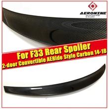 Carbon Fiber Spoiler For BMW F33 2-doors Convertible 4 Series M4 420 425 428 430 435 2014-2019 Ride Style Wing Spoilers 2014-in