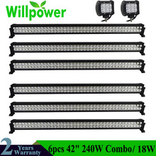 FREE shipping to russia 4pcs 240W 42inch 12v offroad led light bar work