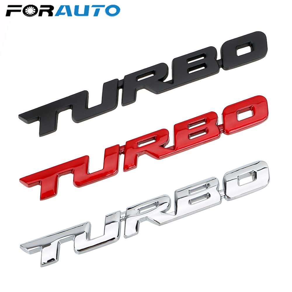 RED Chrome 3D TURBO Badge Sticker for Ford Fiesta Focus ST RS Mondeo KA