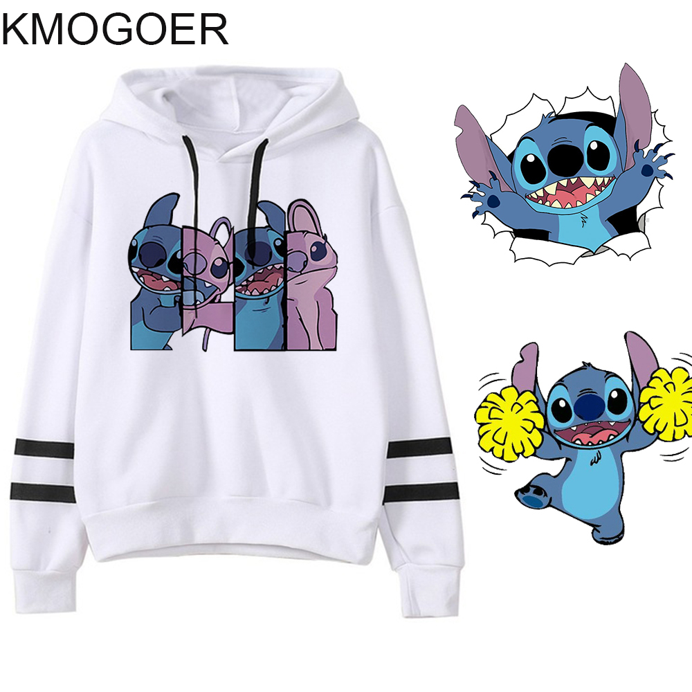 Spring Female Long Sleeve Stitch Print Hooded Fashion Harajuku Women Hoodies Sweatshirts Lilo Stitch Hoodie Ladiy Girl Pullover