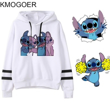 Spring Female Long Sleeve Stitch Print Hooded Fashion Harajuku Women Ho