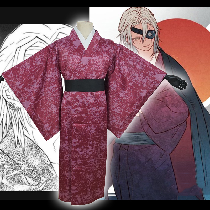 Anime Comic Demon Slayer Kimetsu No Yaiba Cosplay Costumes Uzui Tengen Cosplay Costume Kimonos Uniform Clothes Men Suits