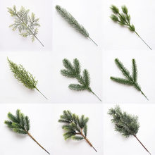 Artificial Pine needles Christmas Tree Ornaments Fake Cypress leaf Plants Branches for Xmas Decor Home Party Decorations 62622(China)
