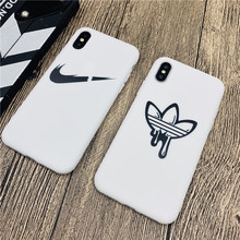 Sports Brand Logo Soft Case For Iphone 11 Pro Max X Xs Xr 8 7 6 6s Plus Matte Silicone White Trend Coque Fundas Capa 11 Pro Max цена и фото