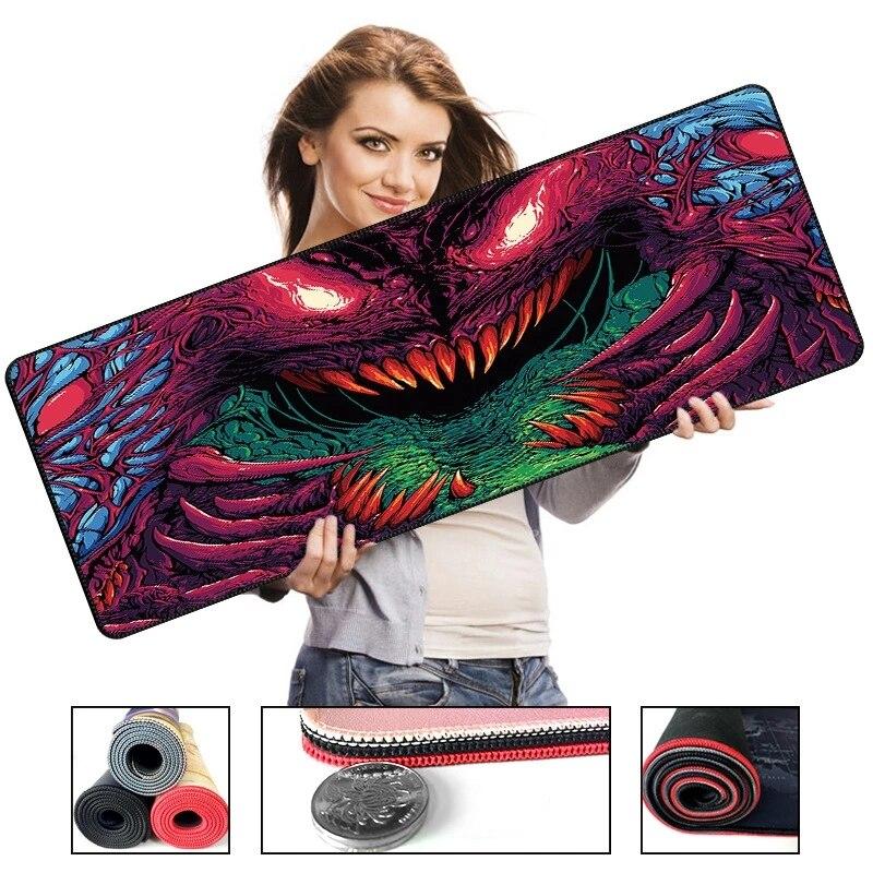 700*300*2 размер Серия Monster High Speed коврик для мыши большой игровой коврик для мыши Lockedge клавиатура Коврик для мыши для Overwatch CSGO LOL|Коврики для мышей|   | АлиЭкспресс