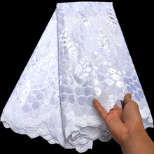 Austria Lace Fabric Heavy-Rich African Traditional Handcut Highest-Quality 5-Yards 100%Cotton