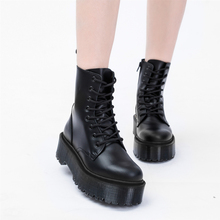 Shoes Doc-Boots Couple Motorcycle High-Top Ankle-Leather Winter Warm Unisex Women Fashion