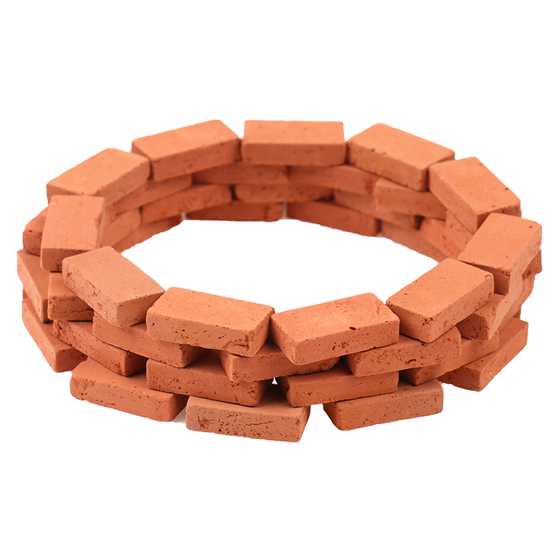 50PCS 1/16 Miniature Simulation Brick Diy Sand Table Landscape Scenery Clay Scenery Building Toy