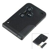 433MHz 3 Tasten Remote Smart Auto Schlüssel mit ID46 PCF7947 Chip und Notfall Insert Klinge Karte für Renault Megane scenic 2003-2008