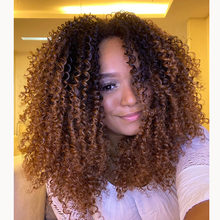 Ombre Kinky Curly 360 Lace Frontal Human Hair Wig with Baby Hair Brazilian for Black Women Natural Hairline Bleached Knots(China)