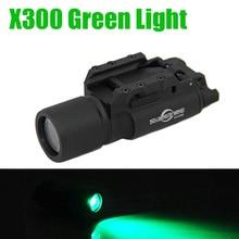 Tactical SF X300 Ultra High Output LED Weapon Light 400 lumens Green Light Aluminium Alloy Construction
