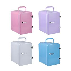 Summer Must-have!Mini Fridge 4L 12V 42W Food cosmetics refrigerator for travel home office Car Small Refrigerator Easy carry