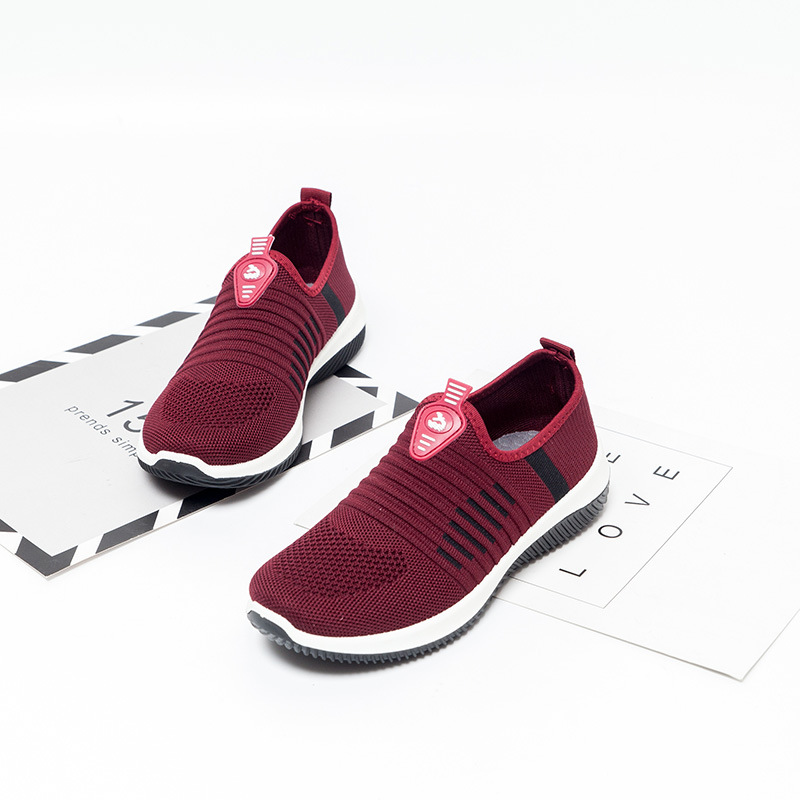 Women Flat Shoes Knit Woman Casual Slip On Vulcanized Shoes Female Mesh Soft Breathable Women's Footwear For Ladies Flats