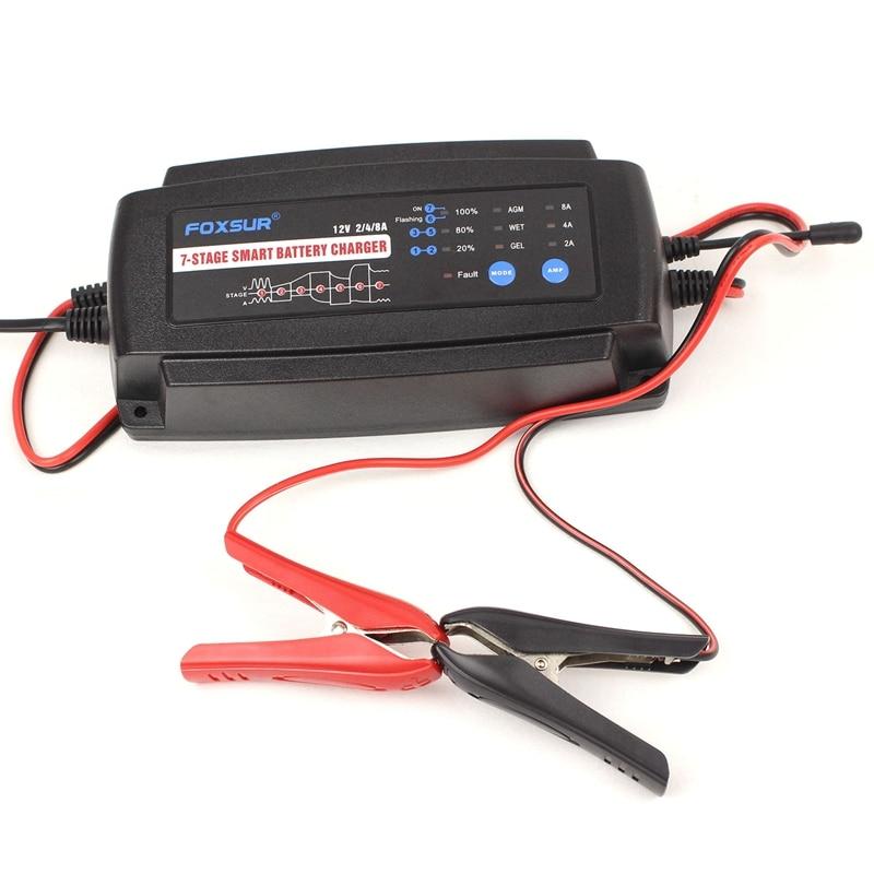 Купить автоматическое умное зарядное устройство 12 в 2 а 4 а 8 7 ступенчатое