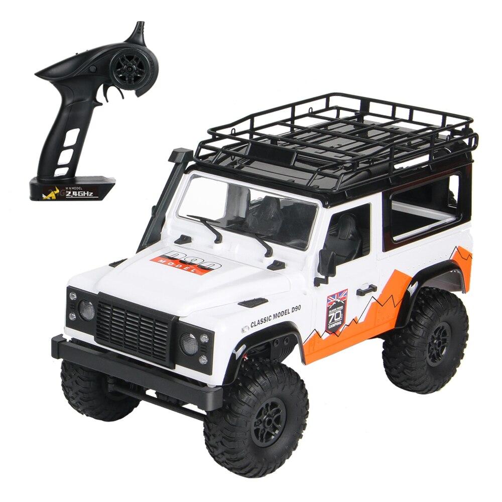 MN-99 1/12 4WD RC voiture 2.4Ghz voiture tout-terrain RC Rock chenille camion de fond jouet avec phare pour enfants 20Minutes de temps de travail
