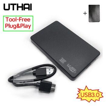 """UTHAI T22 2,5 """"SATA к USB3.0 HDD корпус мобильный жесткий диск чехол для SSD внешнего хранения HDD коробка с USB3.0/2,0 кабель ABS"""