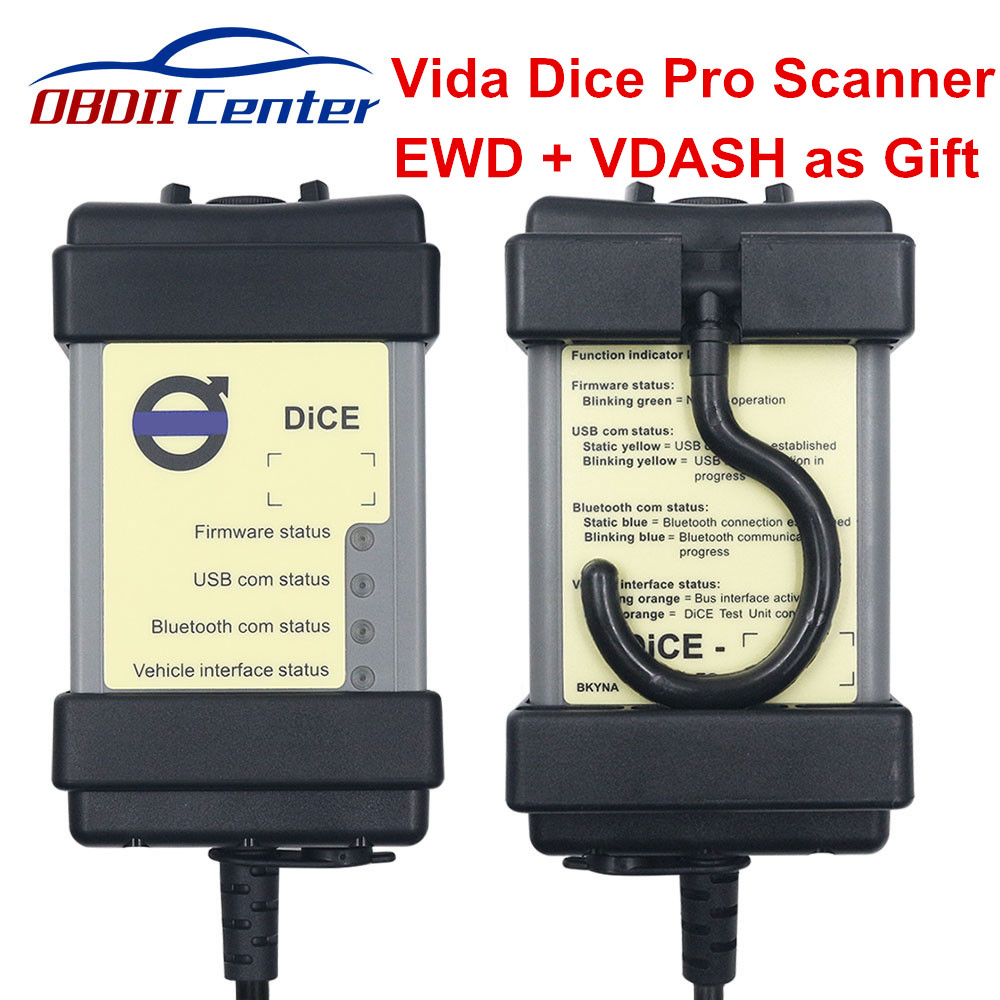 Full Chip Vida Dice Pro For Volvo Diagnostic Scanner Vida Dice 2014D All-in-one Diagnosis Interface For Volvo Car 1999 To 2014