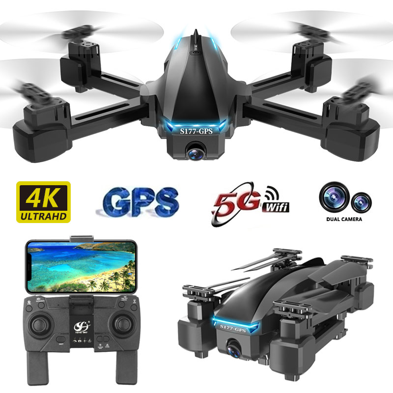 BENTOBEN Profissional GPS Drone With 4K 5G Wifi FPV HD Wide Angle Dual Camera Foldable Mini Dron RC Quadcopter Gift