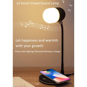Table-Lamp Bluetooth-Speaker Gadgets Electronic Wireless LED 5V Or Silica-Gel ABS L4