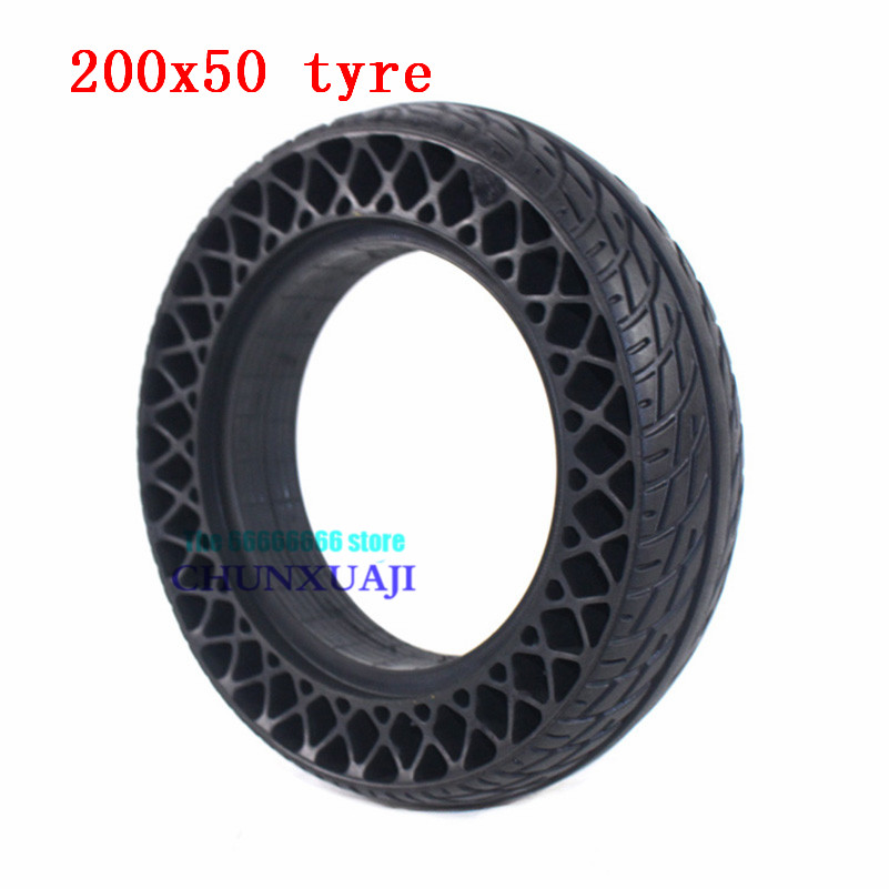 200x50 Electric Scooter Honeycomb Wheel Tyre 8 Inch Solid Tire Stab-proof, Wear-resistant Non Inflatable Tires 200*50 Tire