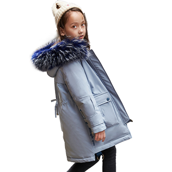 Thick Warm Down Jacket For Girls 2019 New Fashion Winter Children 6-14 Year Coat Boys Hooded Down Outerwear Parka For Girls